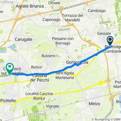 Da Via Manzoni 46/9, Gessate a Via della Martesana 27, Cernusco sul Naviglio