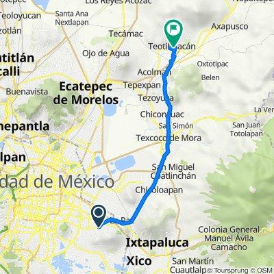 De Paraíso 27, Ciudad de México a Calle Vicente Guerrero 52, San Juan Teotihuacan de Arista