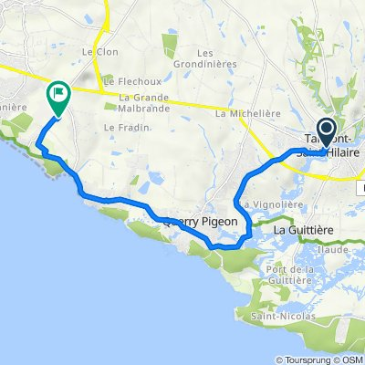 Itinéraire à partir de 6 Rue du Château, Talmont-Saint-Hilaire