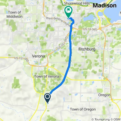 The Ice Age Trail, Belleville to 605 Constitution Ln, Madison