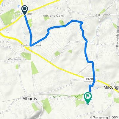 1176 Trexlertown Rd, Trexlertown to 6948 Hearth Ln, Macungie