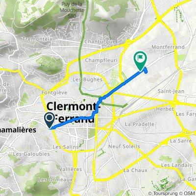 De 36bis Avenue Pasteur, Chamalières à 105 Avenue de la République, Clermont-Ferrand