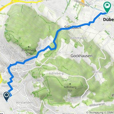 Ottenweg -> Velos Brugnoli Dübendorf