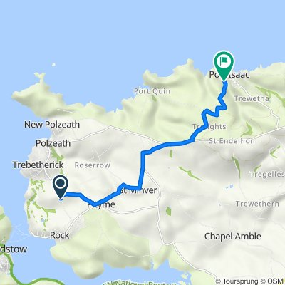 Pendeen, Trewint Lane, Wadebridge to 1–3 Roscarrock Hill, Port Isaac