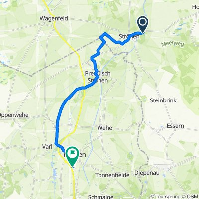 Tierpark Ströhen - NRW Nord Punkt - Rahden 20,7km