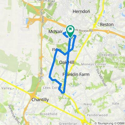 13112 Marcey Creek Rd, Herndon to 13110 Marcey Creek Rd, Herndon