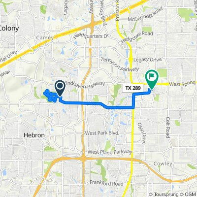 Route to 4508 Charlemagne Dr, Plano
