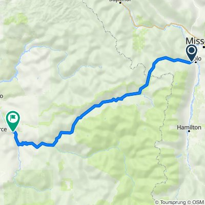8500–8598 Highway 12 W, Lolo to 3343 US-12, Kamiah