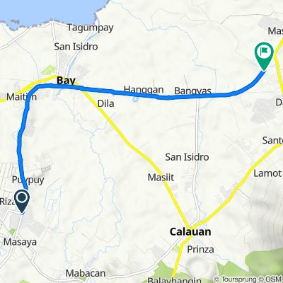 F.T. San Luis Avenue 43, Bay to National Highway, Calauan