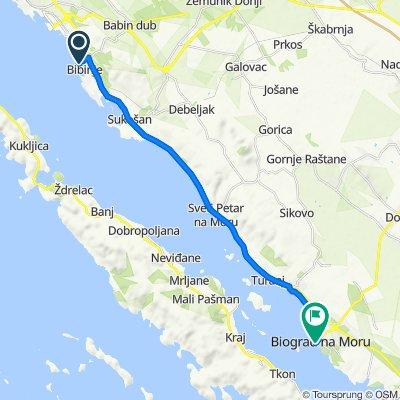 Ulica Gojka Šuška, Bibinje do Obala kralja Petra Krešimira IV 1–4, Biograd na Moru
