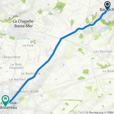 De 2 Rue du Bois Guillet, Barbechat à Place Saint-Jean, Le Loroux-Bottereau