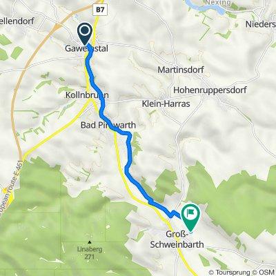 Obere Berggasse 6, Gaweinstal nach Brunnenweg 17, Groß-Schweinbarth
