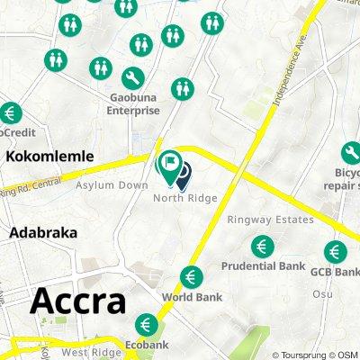 Doctor Isert Street 18, Accra to Doctor Isert Street 18, Accra