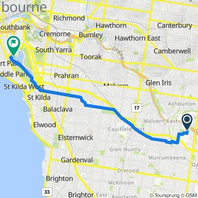 18A Rebecca Road, Malvern East to 31 Aughtie Drive, Albert Park