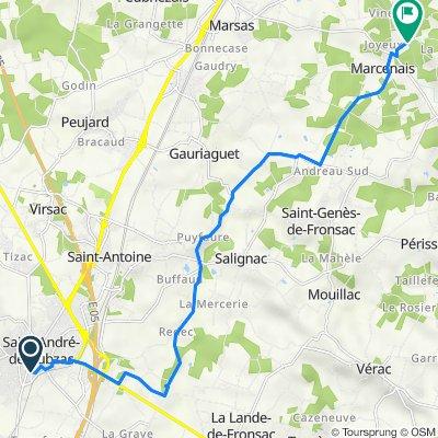 De 9 Rue Constantin, Saint-André-de-Cubzac à La Moulinasse Sud, Tizac-de-Lapouyade