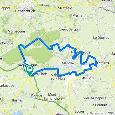 Digue de la Lys 221, Haverskerque to Rue des Casernes 4, Saint-Venant