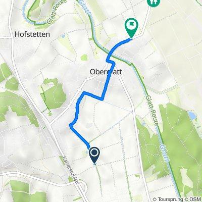 Route nach Bülachstrasse 47, Oberglatt ZH