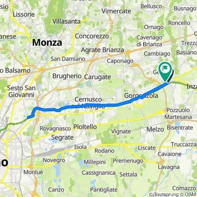 Da Via Roma 101, Bellinzago Lombardo a Variante di Villa Fornaci, Gessate