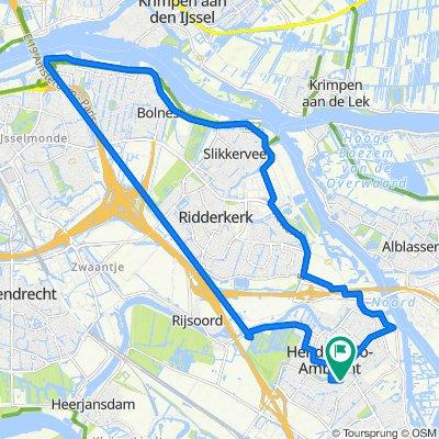 Ary Schefferlaan 17, Hendrik-Ido-Ambacht naar Pieter van der Leeuwpad 2, Hendrik-Ido-Ambacht