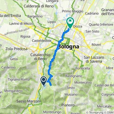 Percorso per Via Fratelli Musi 1–9, Bologna