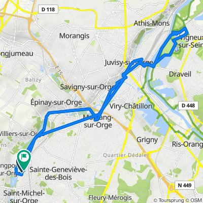 De 1A Rue du Haras, Saint-Michel-sur-Orge à 7 Rue du Haras, Saint-Michel-sur-Orge