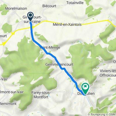 De 4 Rue d'Alsace, Gironcourt-sur-Vraine à 85–99 Grande Rue, Domjulien