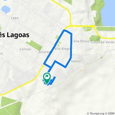 De Rua Marcelo Vitoria, 3971, Três Lagoas a Rua Marcelo Vitoria, 3972, Três Lagoas
