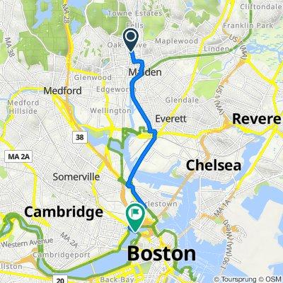 128–166 Washington St, Malden to Charles River Dam Rd, Boston