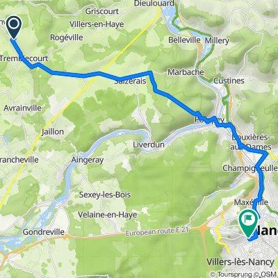 Itinéraire à partir de Rue de Vin, Domèvre-en-Haye