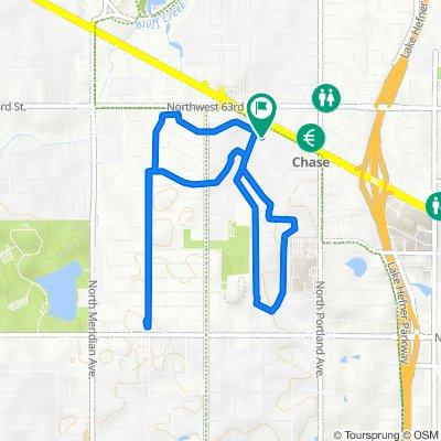 Northwest 62nd Street 3912, Oklahoma City to Northwest 62nd Street 3908, Oklahoma City