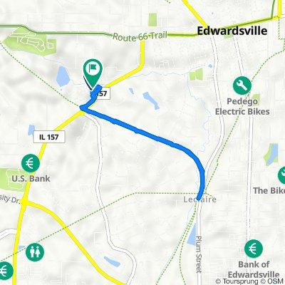 1011 Enclave Blvd, Edwardsville to 1001 Enclave Blvd, Edwardsville
