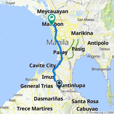 Lopez, Bacoor to East Aquino Street 28, Malabon