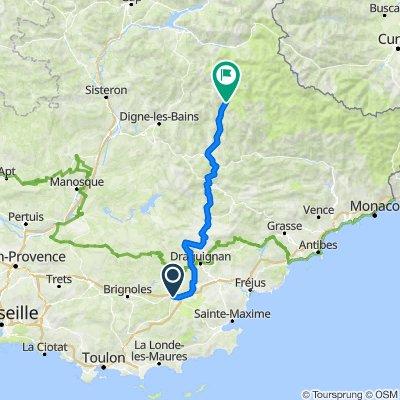 De Route de Nice, Le Luc à D202, Villars-Colmars