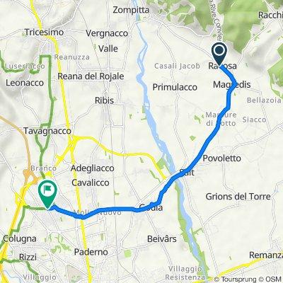 Da Via Solferino 6, Ravosa-Magredis a Piazza Indipendenza 2–4, Feletto Umberto