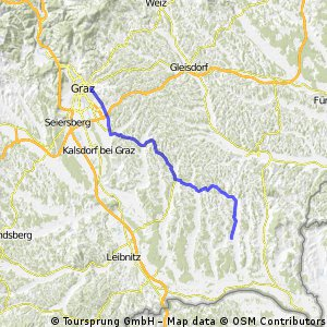 """Großmutter-Route""-Rennrad Graz - Dietersdorf am Gnasbach"