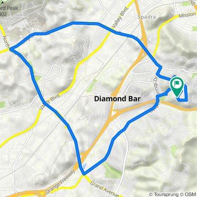 737 Featherwood Dr, Diamond Bar to 725 Featherwood Dr, Diamond Bar