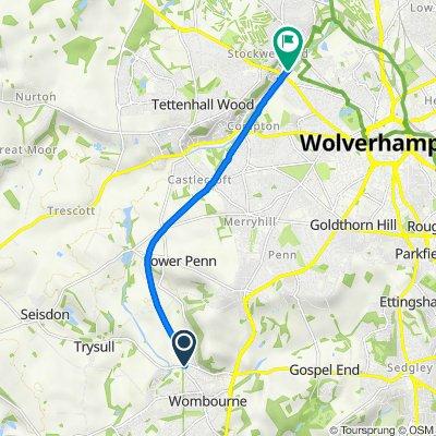 54 Bratch Lane, Wolverhampton to Valley Park, Wolverhampton