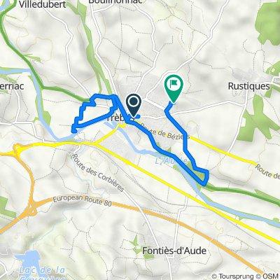 De 4 Route Minervoise, Trèbes à 5 Rue du Quercy, Trèbes