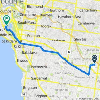 18A Rebecca Road, Malvern East to 36 Aughtie Drive, Albert Park