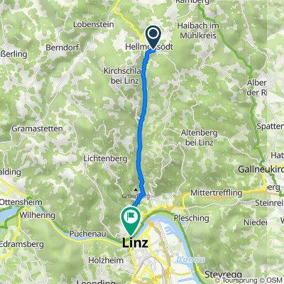 Oberfeld 36, Hellmonsödt to Hauptstraße 1-5, Linz