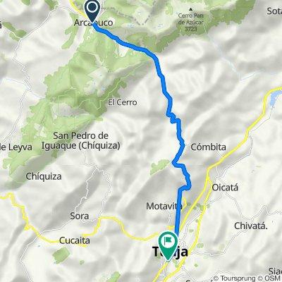De Calle 3 536, Arcabuco a Carrera 9 10-58, Tunja
