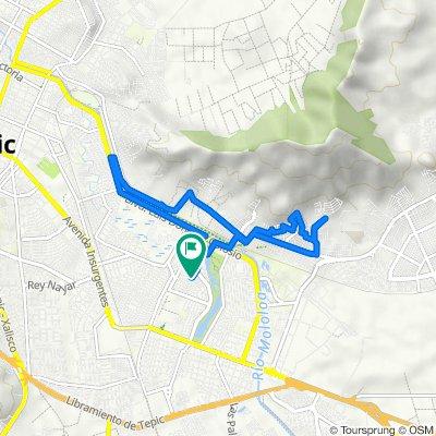 De Calle Mar Mediterráneo 174–190, Tepic a Calle Mar Mediterráneo 174–190, Tepic