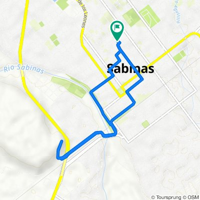 De Calle General Santos Degollado 634, Sabinas a Calle General Santos Degollado 636, Sabinas