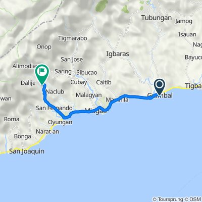 Guimbal to Bacolod, Miag-ao