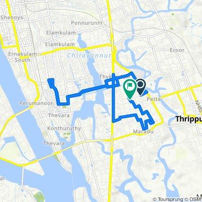 Thuruthy Temple Road, Kochi to KRPS-27, Kochi