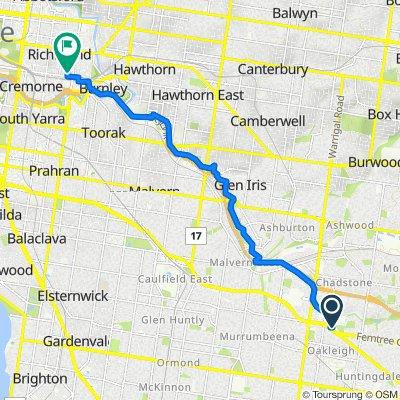 1601 Dandenong Road, Oakleigh to 66 Edinburgh Street, Richmond