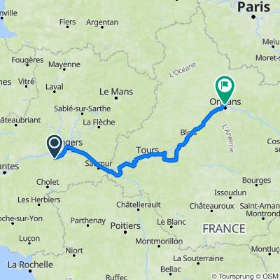Loira: Chalonnes - Orleans