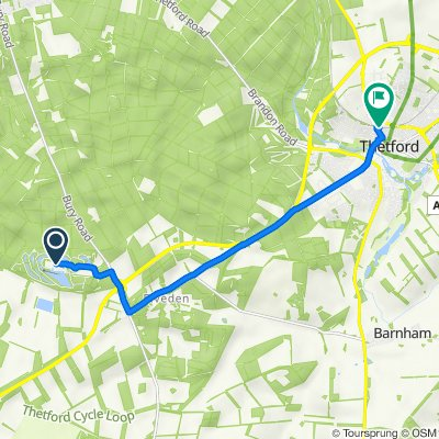 Route to Station Road, Thetford