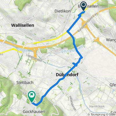 1 38, Wangen-Brüttisellen nach Meisenrain 67, Dübendorf