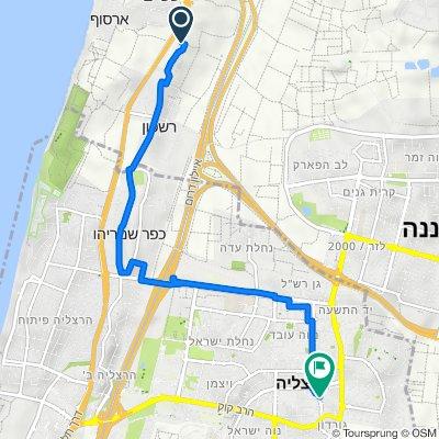 Route to Anafa Street 10–12, Herzliya